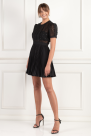 Sequin Mesh Puff Sleeve Mini Dress