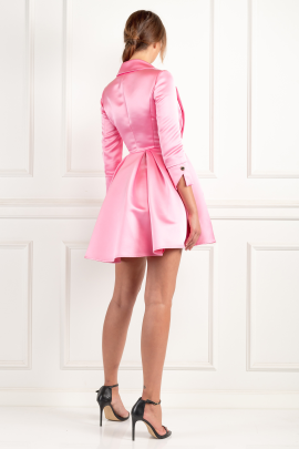 * Pink Dress With Circle Skirt-2
