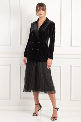 Velours Blazer And Tulle Skirt-0