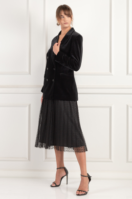 Velours Blazer And Tulle Skirt-1