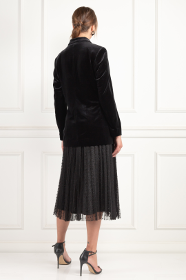 Velours Blazer And Tulle Skirt-2