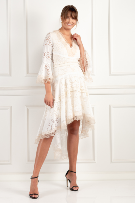 Pearl White Ash Dress-0