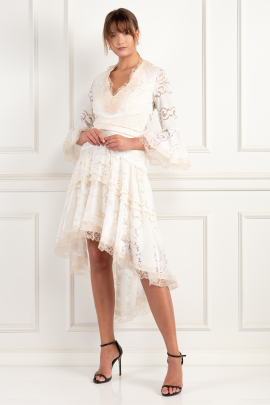 Pearl White Ash Dress-2
