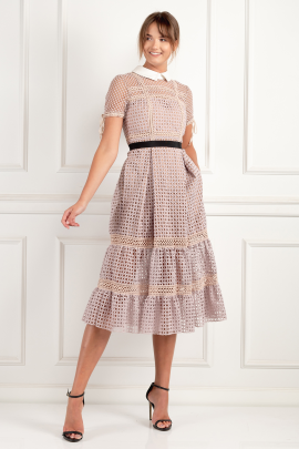 * Crosshatch Tiered Dress-0