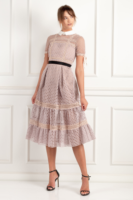 * Crosshatch Tiered Dress-2