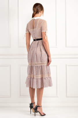 * Crosshatch Tiered Dress-3