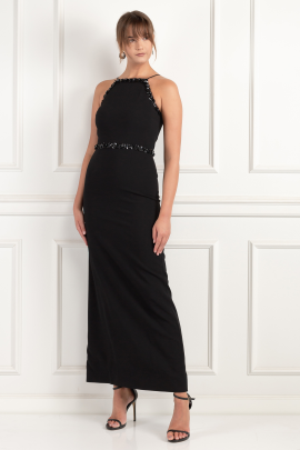 Embellished Crepe Gown-2