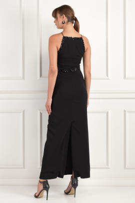 Embellished Crepe Gown-3