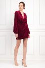 Layla Red Velvet Dress