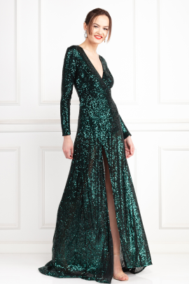 * Fontaine Green Sequin Dress-1