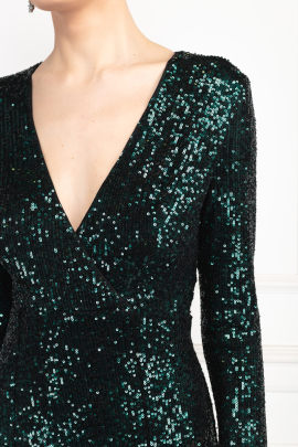 * Fontaine Green Sequin Dress-4