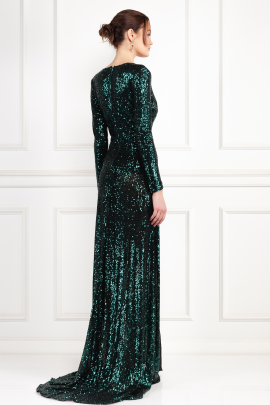 * Fontaine Green Sequin Dress-3