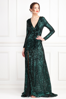 * Fontaine Green Sequin Dress-2