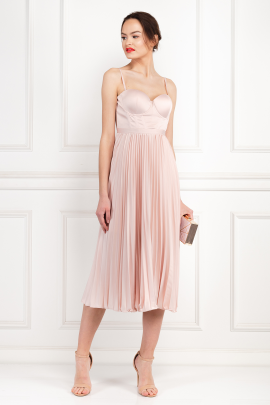 Milan Champagne Pink Dress-1
