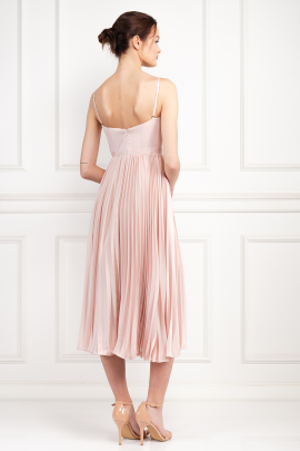 Milan Champagne Pink Dress-2