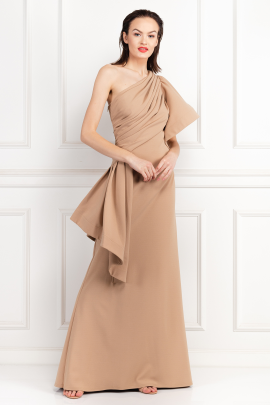 Aboah One-Shoulder Nude Gown -1