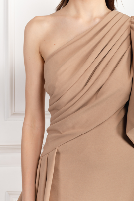 Aboah One-Shoulder Nude Gown -3