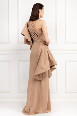 Aboah One-Shoulder Nude Gown -2