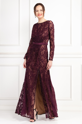 Seckon Lace Burdungy Gown-0
