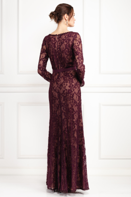 Seckon Lace Burdungy Gown-2