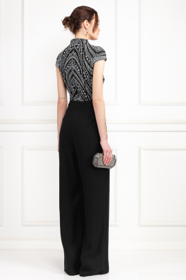 Kiri Black Embroidered Jumpsuit-2
