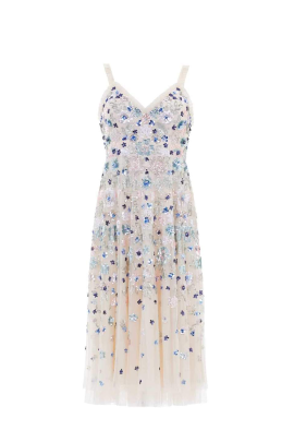 * Wildflower Sequin Midi Dress-4