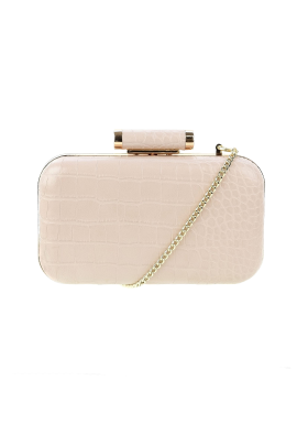 Nude Structured Clutch-0