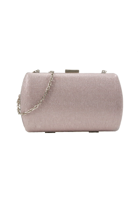 Dusty Rose Glitter Clutch -0