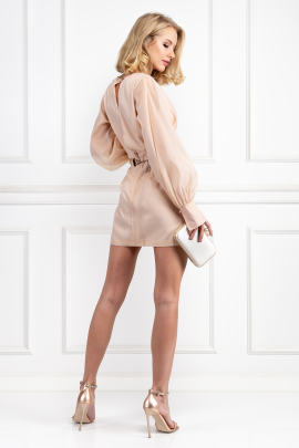 Nude Penelope Mini Dress-2