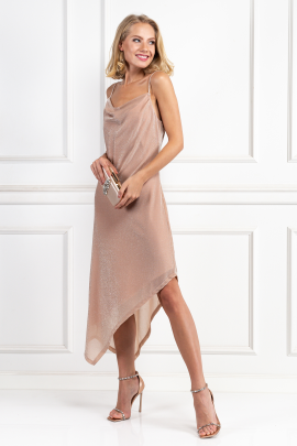 Glitter Nude Carrie Dress-0