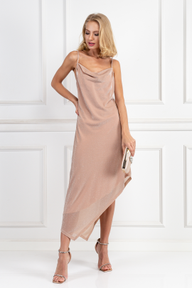 Glitter Nude Carrie Dress-1