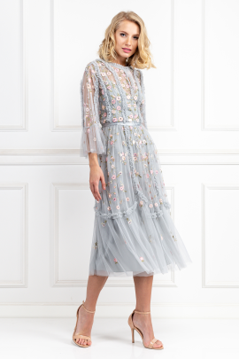 * Sky Blue Wallflower Dress-0