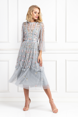 * Sky Blue Wallflower Dress-1