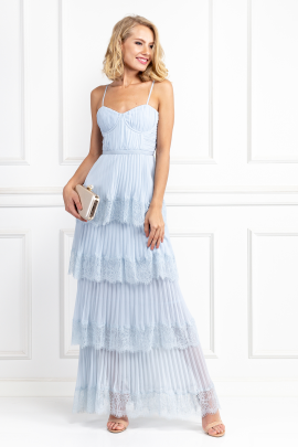 Light Blue Chiffon Gown-0