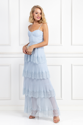 Light Blue Chiffon Gown-1