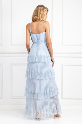 Light Blue Chiffon Gown-3