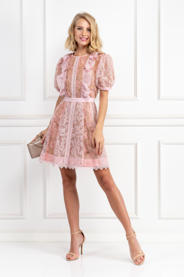 Pink Dress With Sequin Embroideries-0