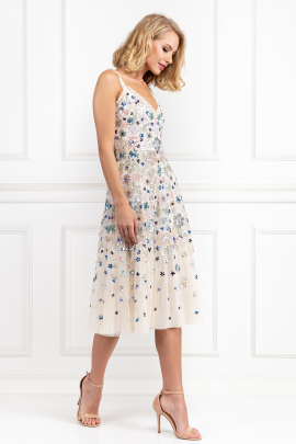* Wildflower Sequin Midi Dress-0