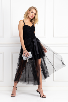 Black Madelyn Tulle Dress-0