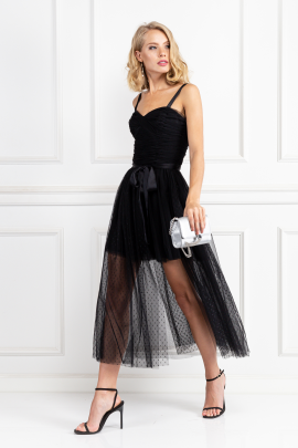 Black Madelyn Tulle Dress-1
