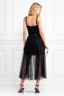 Black Madelyn Tulle Dress-2