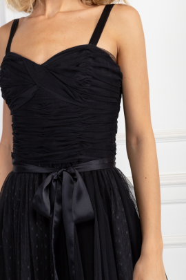 Black Madelyn Tulle Dress-3