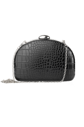 Black Half Moon Clutch-0