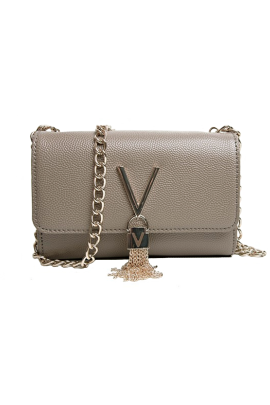Taupe Structured V-bag-0