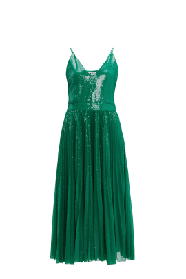 Green Sequin Strappy Dress-0