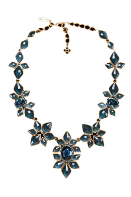 Floral Crystal Necklace-0