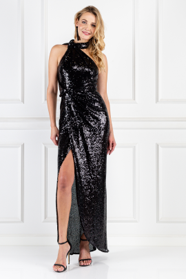 * William Black Sequin Dress-0