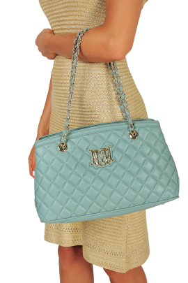 Quilted Light Blue Bag-1