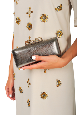 Metallic Leather Clutch-1
