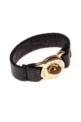 Black Turnlock Leather Bracelet / VILNIUS-0